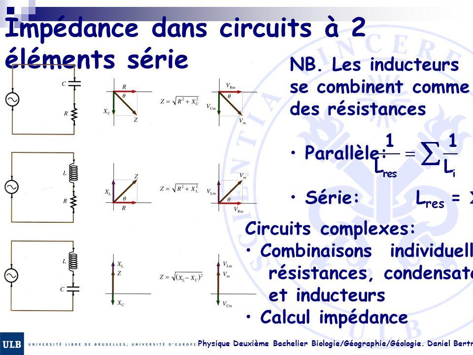 Impédance dans circuits à 2 éléments série
