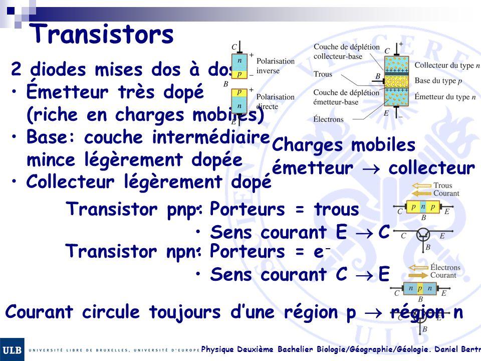 Transistors 2 diodes mises dos à dos: