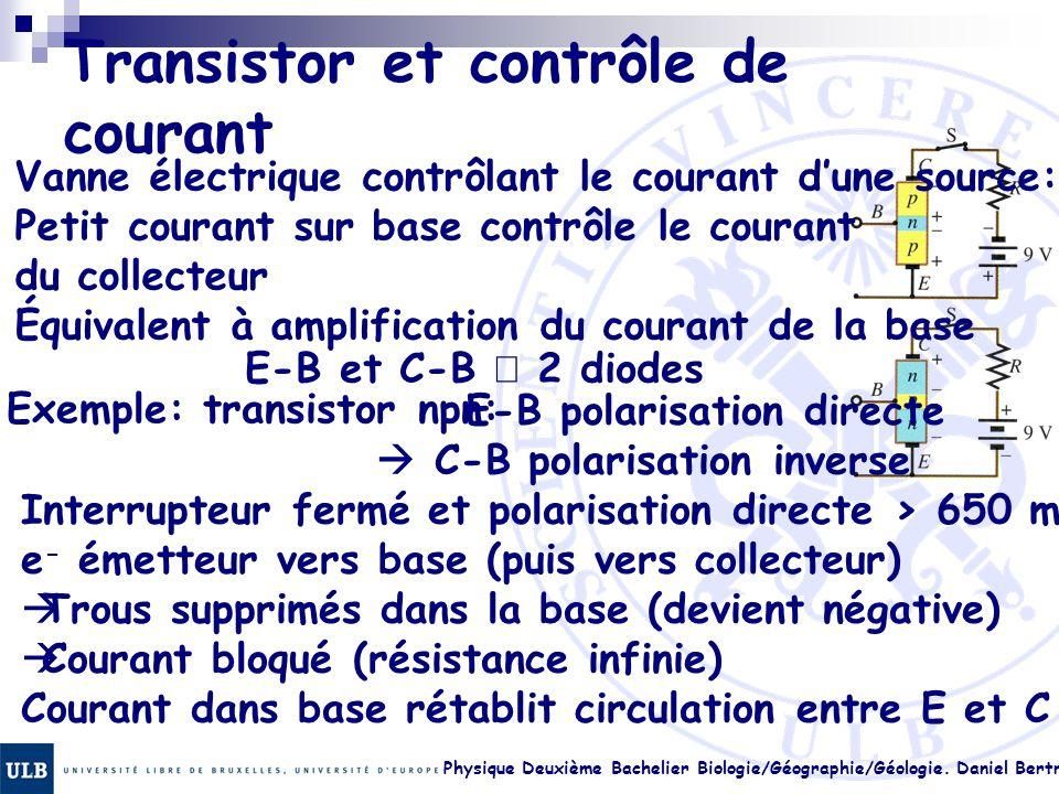 Transistor et contrôle de courant