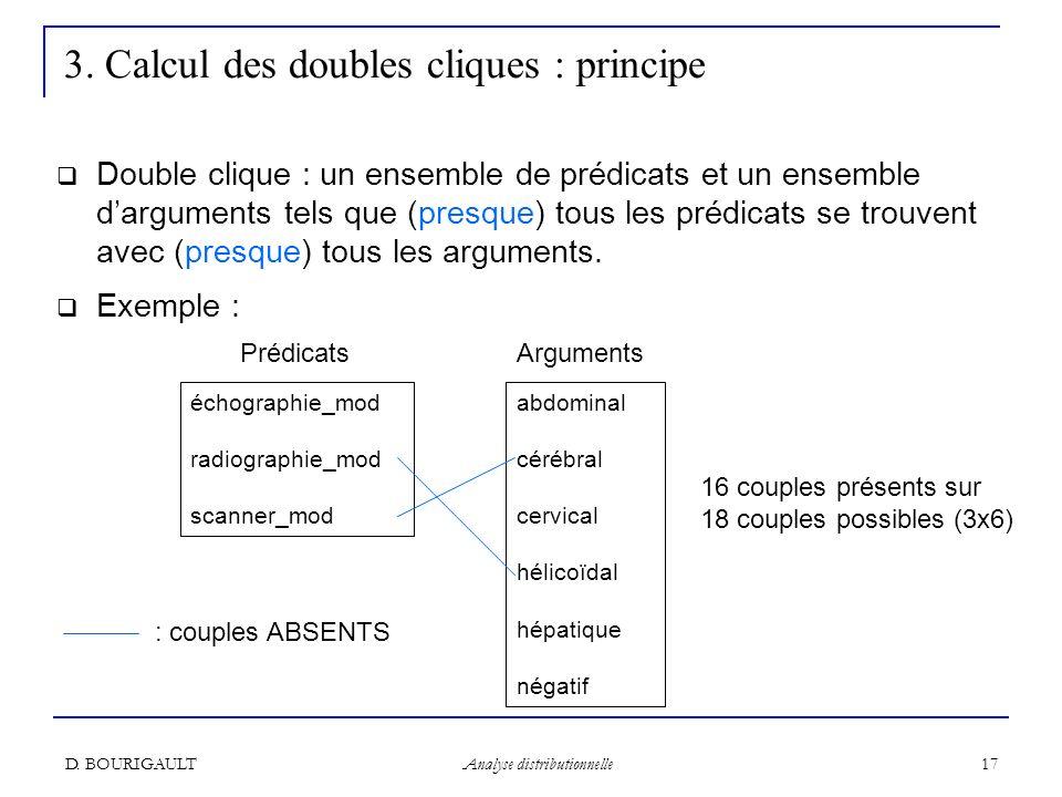 3. Calcul des doubles cliques : principe