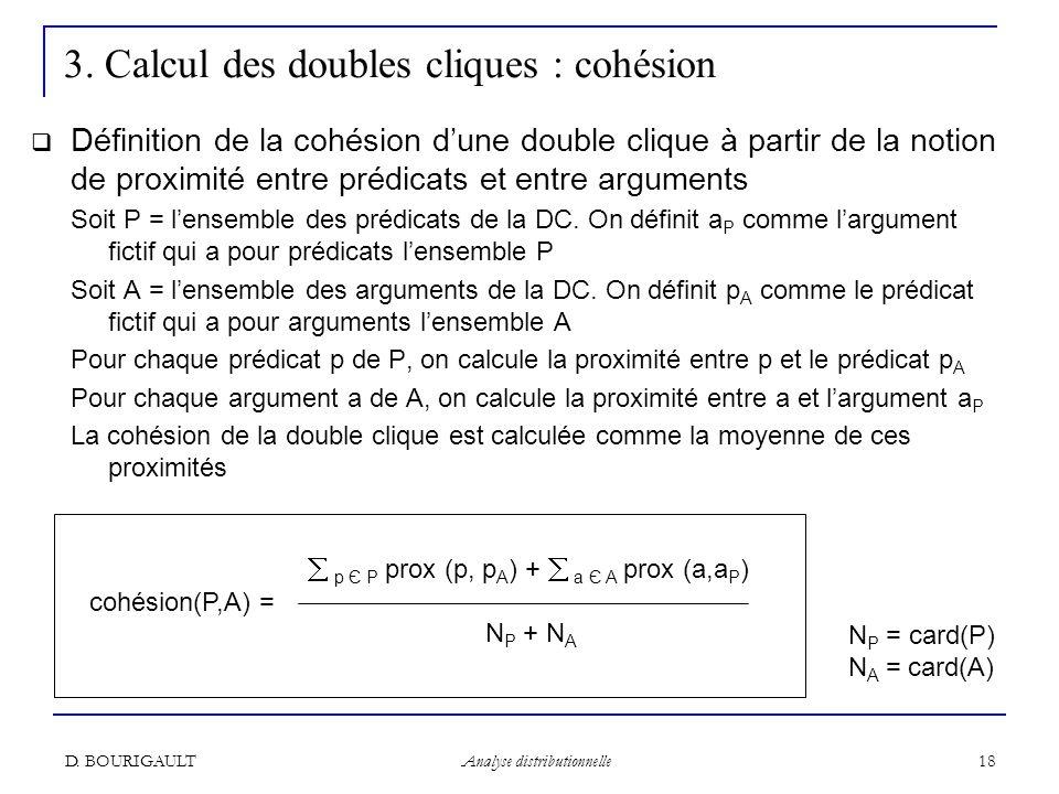 3. Calcul des doubles cliques : cohésion