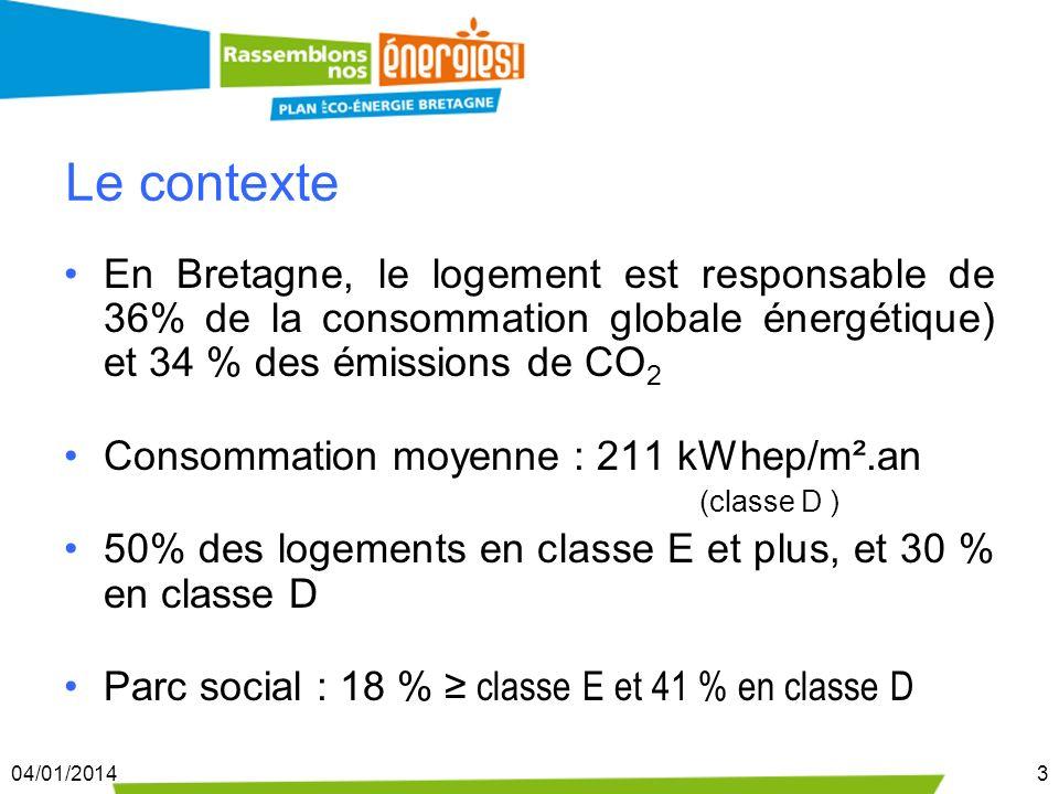 Le contexteEn Bretagne, le logement est responsable de 36% de la consommation globale énergétique) et 34 % des émissions de CO2.