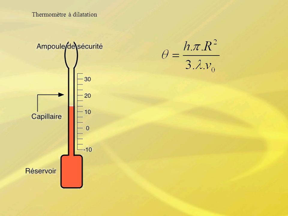 Thermomètre à dilatation