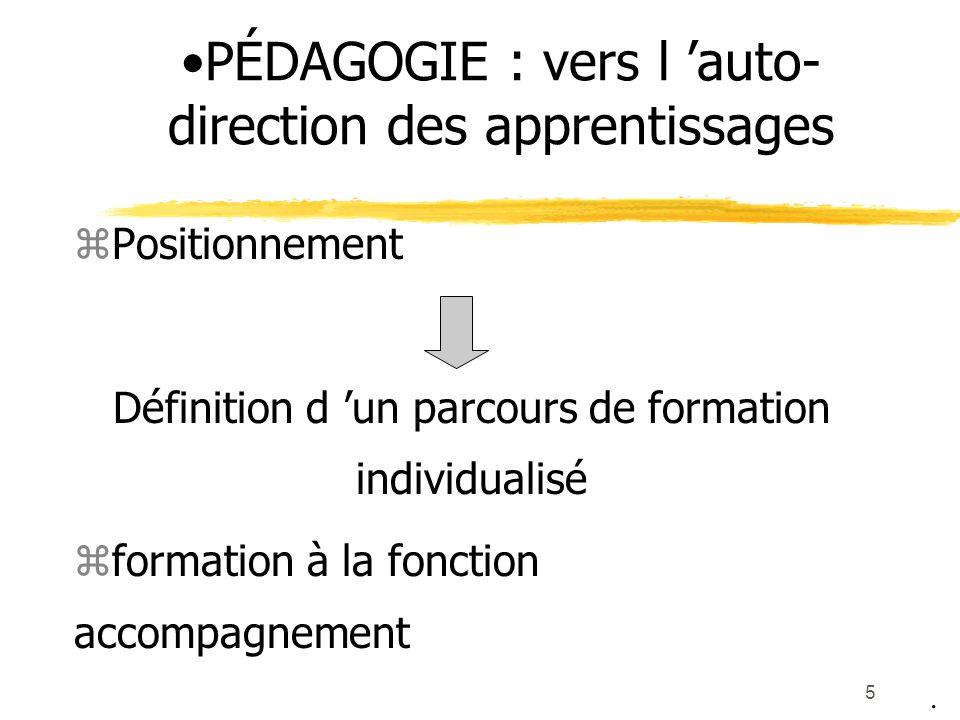 PÉDAGOGIE : vers l 'auto-direction des apprentissages