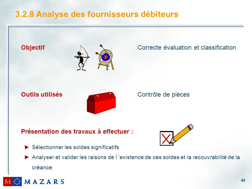 3.2.8 Analyse des fournisseurs débiteurs