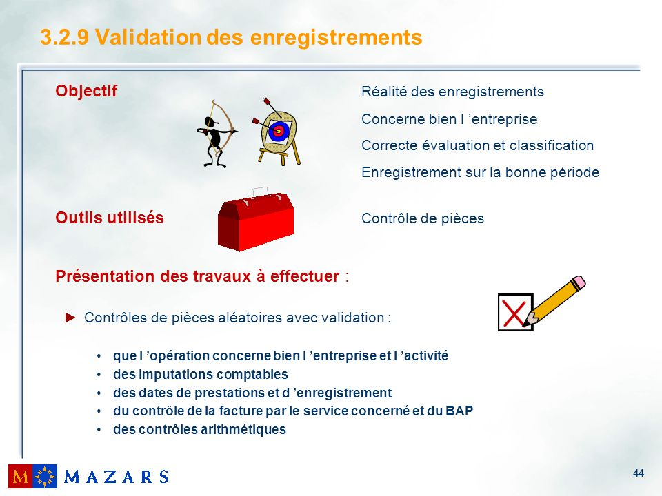 3.2.9 Validation des enregistrements