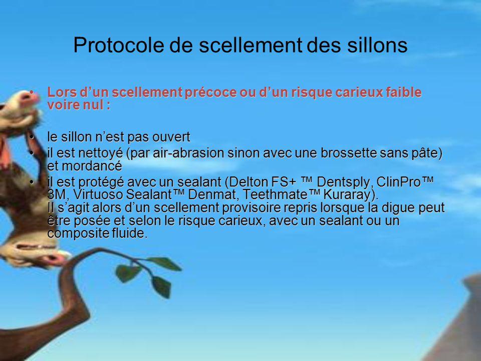 Protocole de scellement des sillons