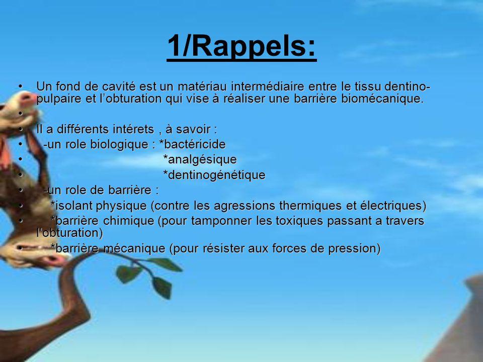 1/Rappels: