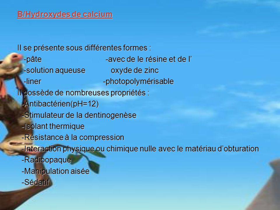 B/Hydroxydes de calcium