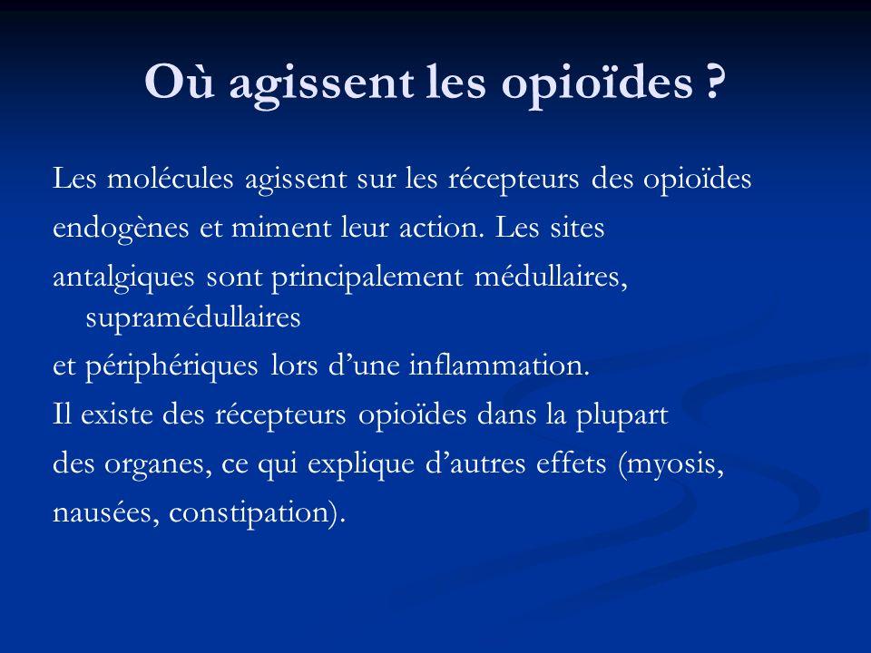 Où agissent les opioïdes
