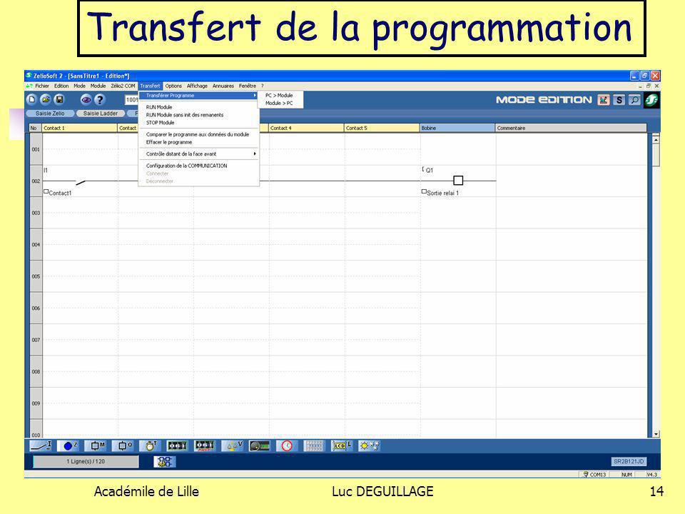Transfert de la programmation