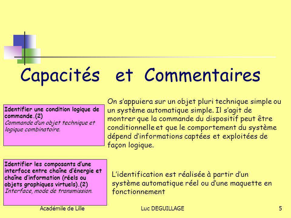 Capacités et Commentaires