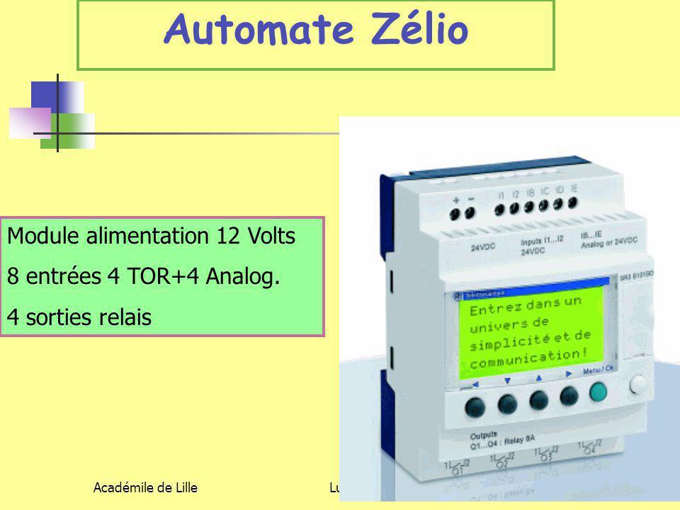 Automate Zélio Module alimentation 12 Volts 8 entrées 4 TOR+4 Analog.