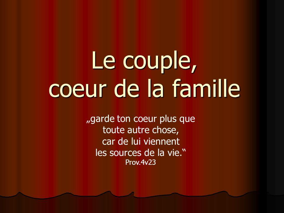 Le couple, coeur de la famille