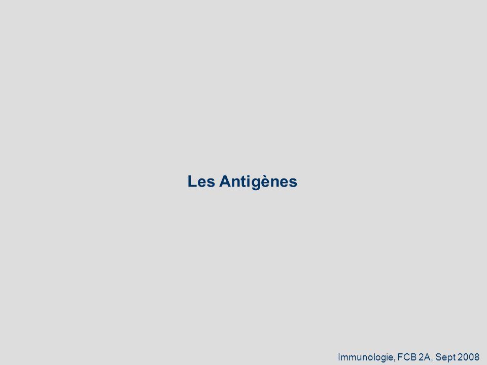 Les Antigènes Immunologie, FCB 2A, Sept 2008 1