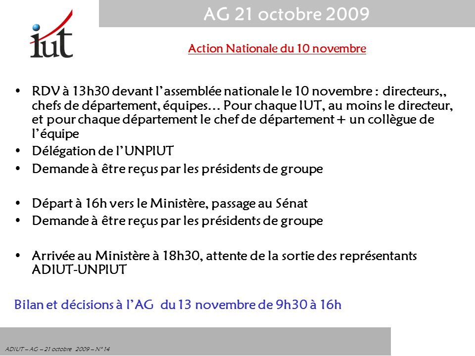 Action Nationale du 10 novembre