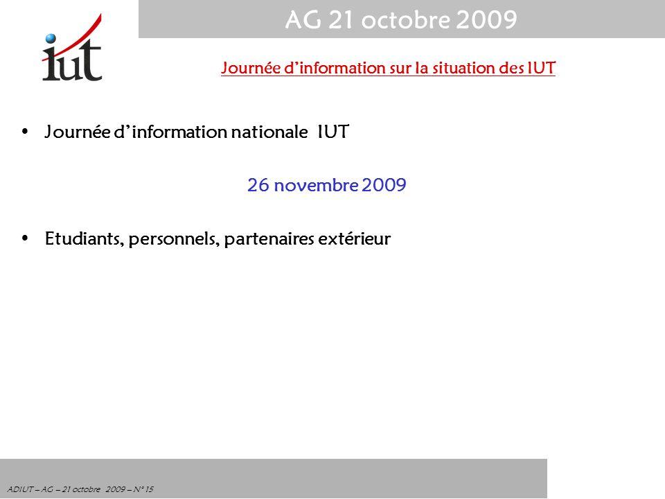 Journée d'information sur la situation des IUT