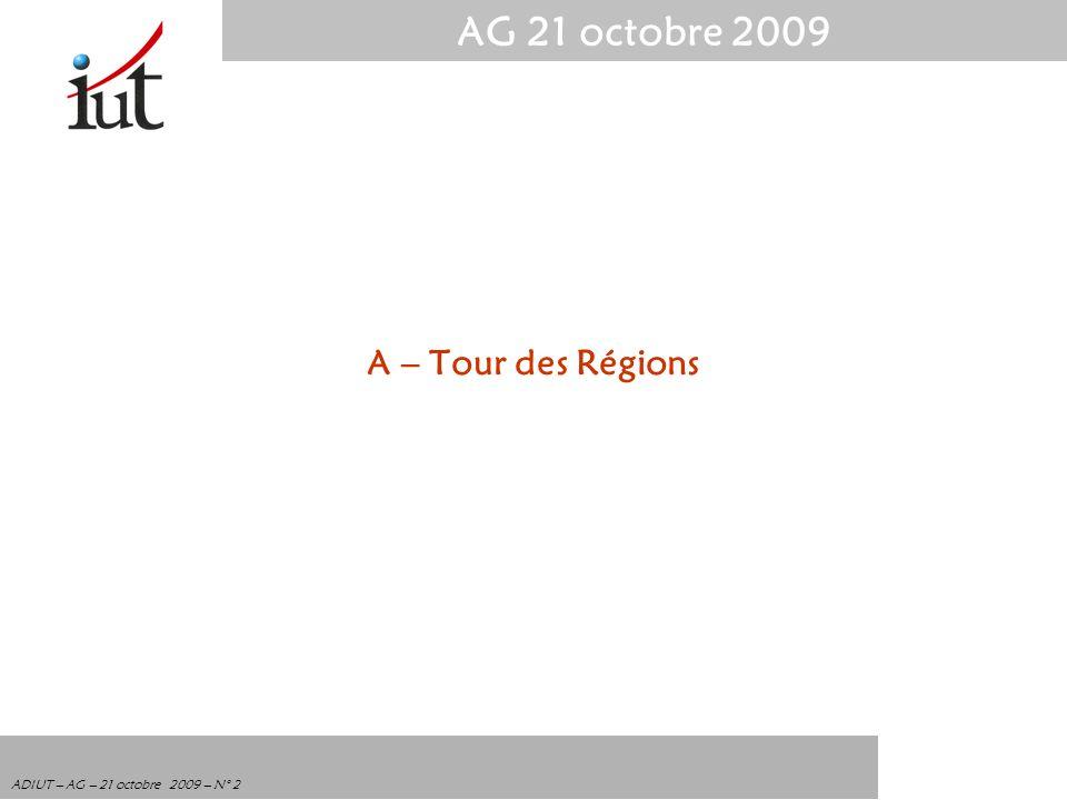A – Tour des Régions