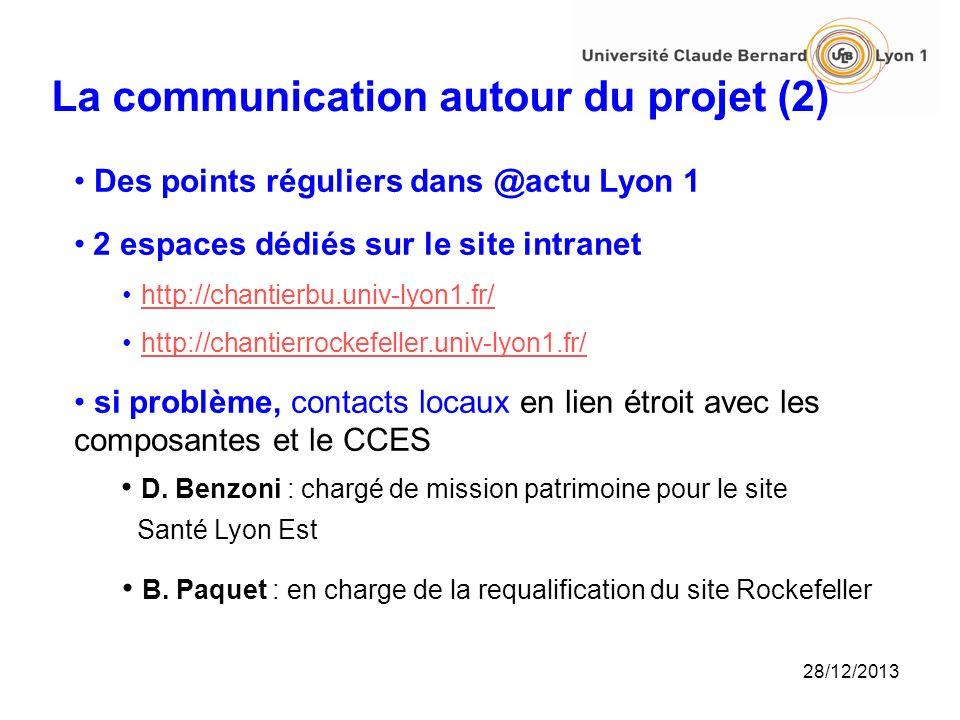 La communication autour du projet (2)