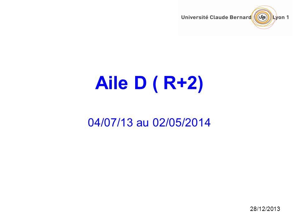 Aile D ( R+2) 04/07/13 au 02/05/2014 25/03/2017