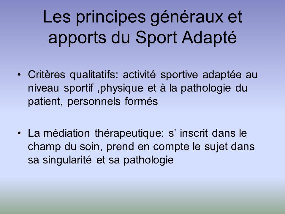 Les principes généraux et apports du Sport Adapté