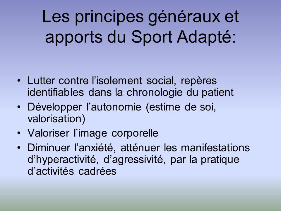 Les principes généraux et apports du Sport Adapté:
