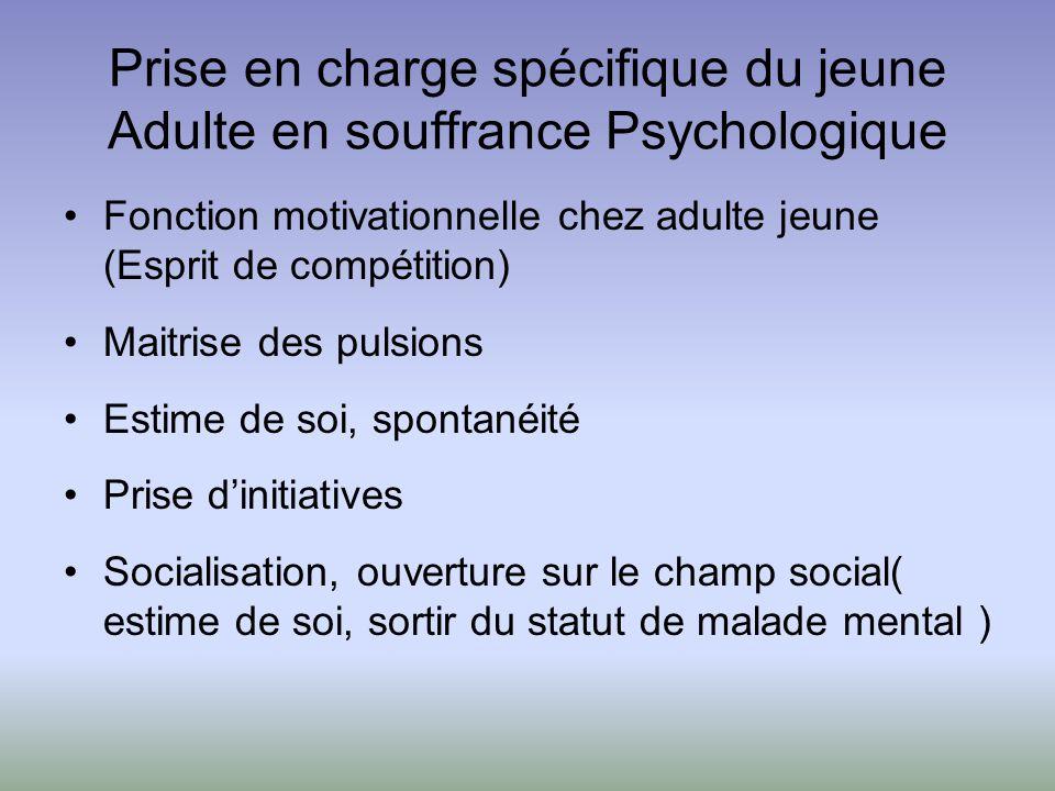 Prise en charge spécifique du jeune Adulte en souffrance Psychologique