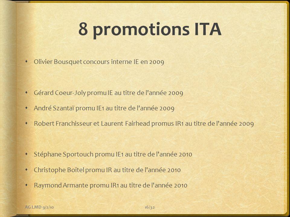 8 promotions ITA Olivier Bousquet concours interne IE en 2009