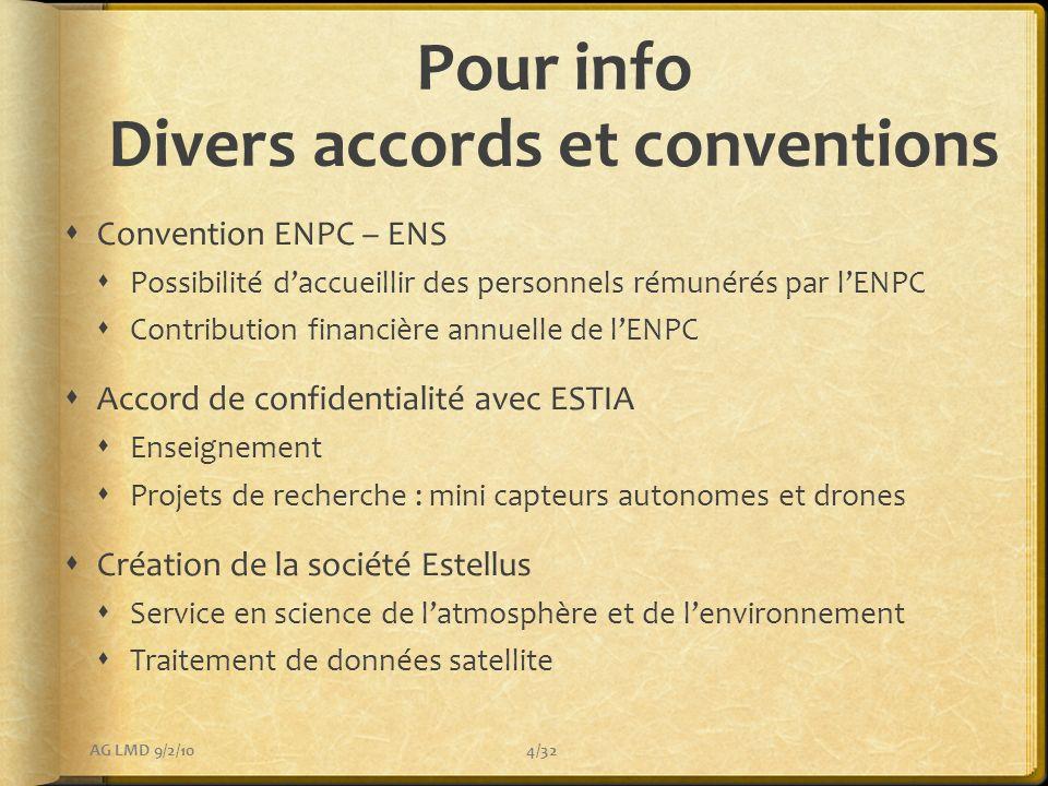 Pour info Divers accords et conventions