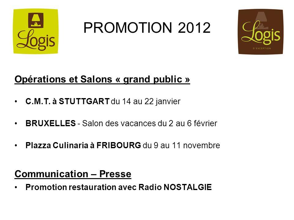 PROMOTION 2012 Opérations et Salons « grand public »