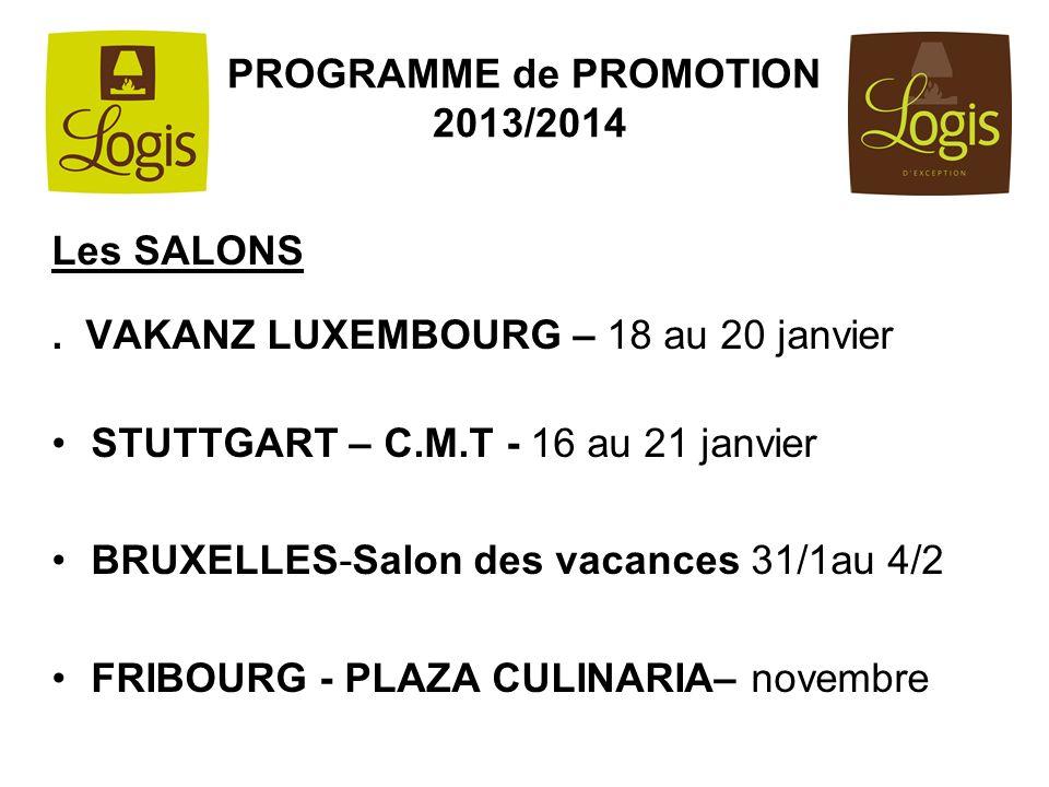 PROGRAMME de PROMOTION 2013/2014