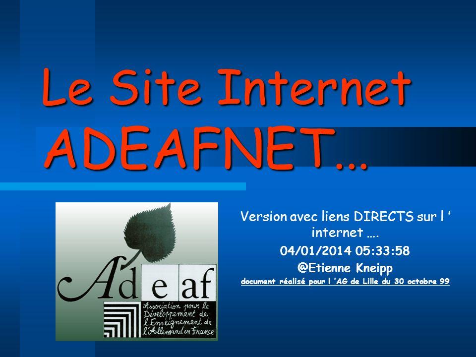 Le Site Internet ADEAFNET...