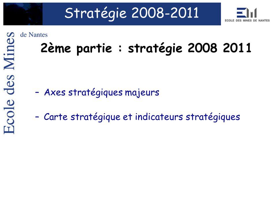 Stratégie 2008-2011 2ème partie : stratégie 2008 2011