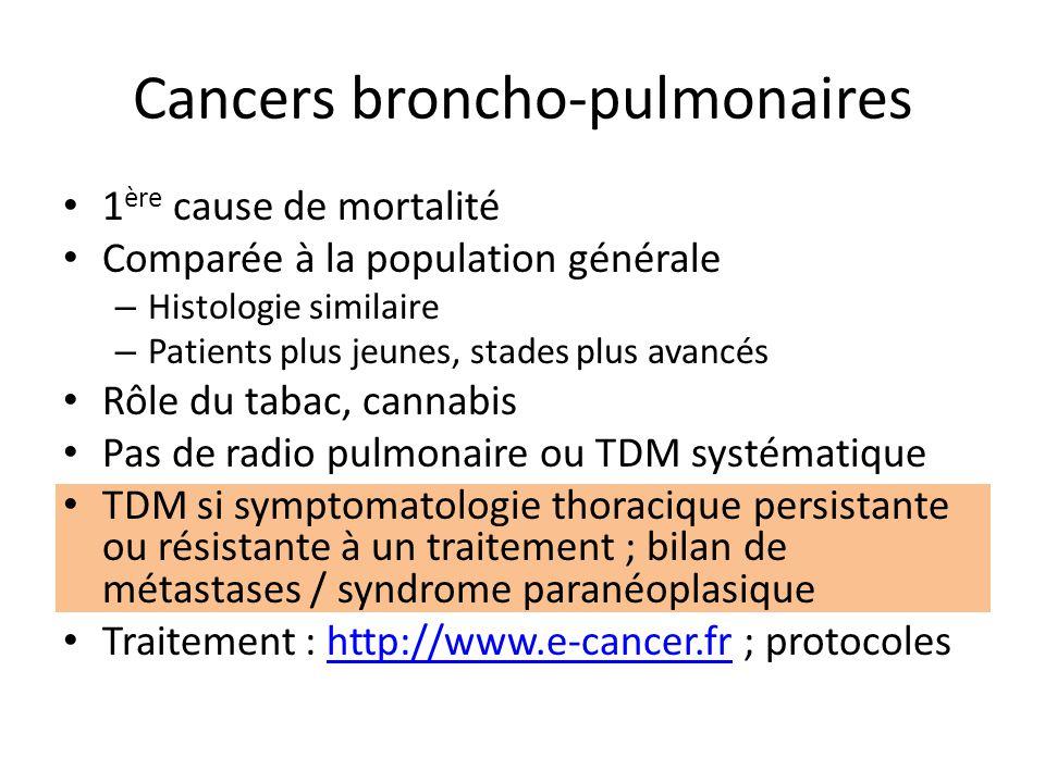 Cancers broncho-pulmonaires