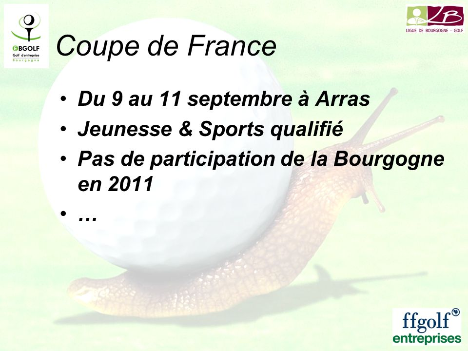 Coupe de France Du 9 au 11 septembre à Arras