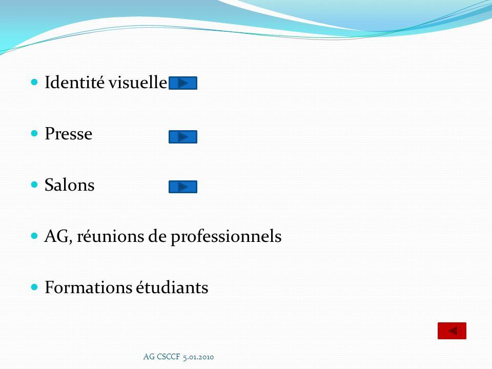 AG, réunions de professionnels Formations étudiants