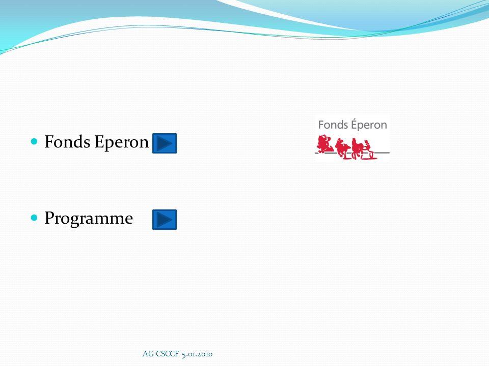 Fonds Eperon Programme AG CSCCF 5.01.2010