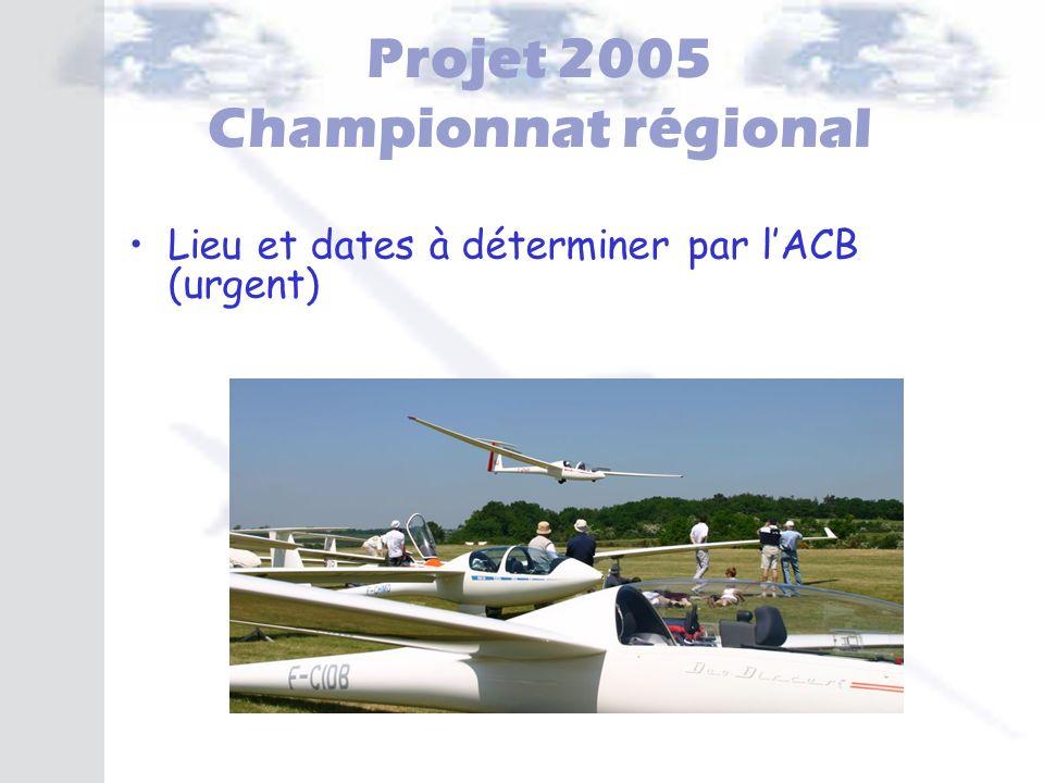 Projet 2005 Championnat régional