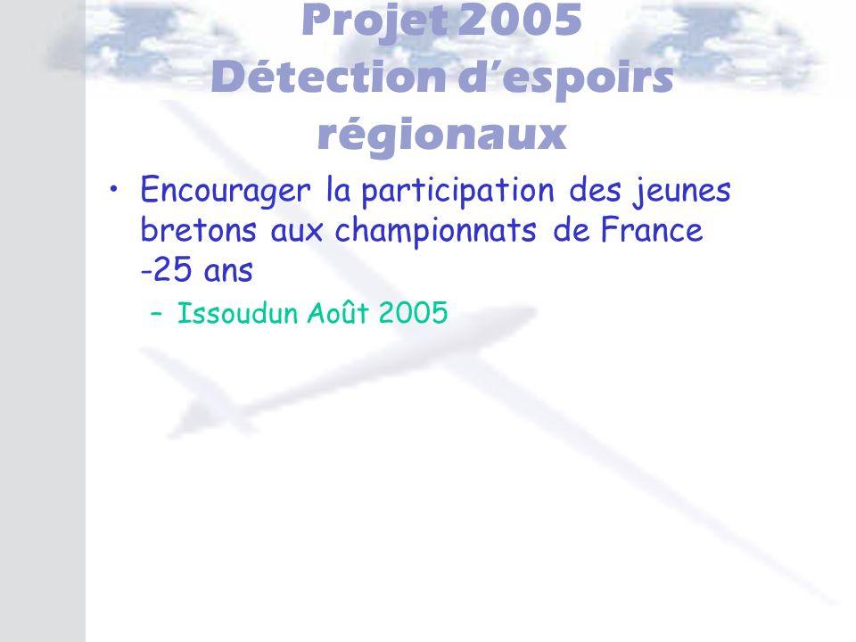 Projet 2005 Détection d'espoirs régionaux