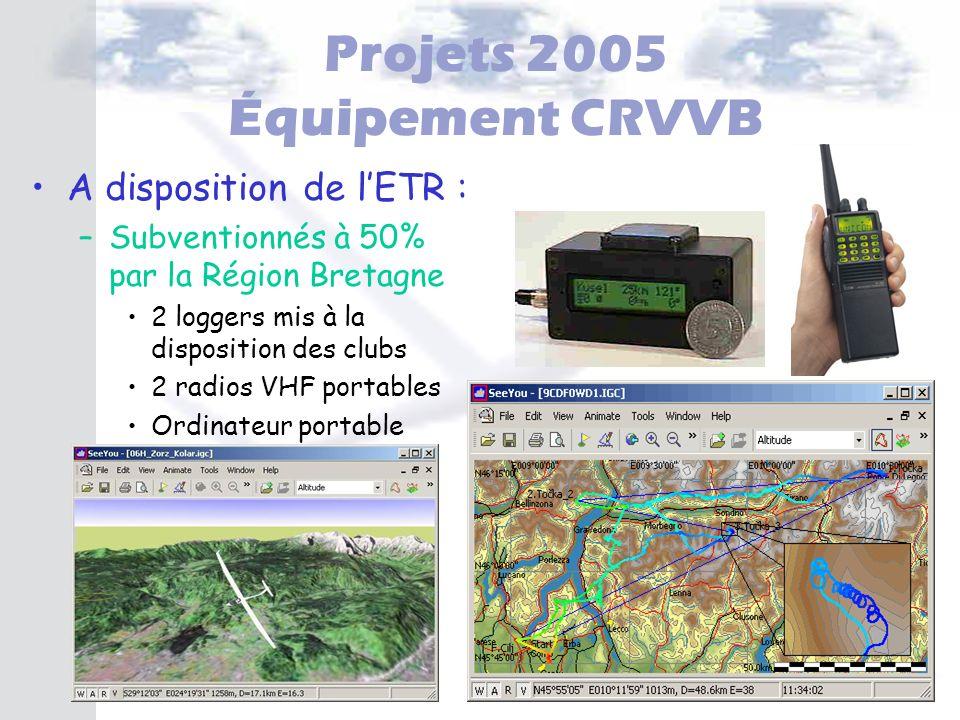Projets 2005 Équipement CRVVB