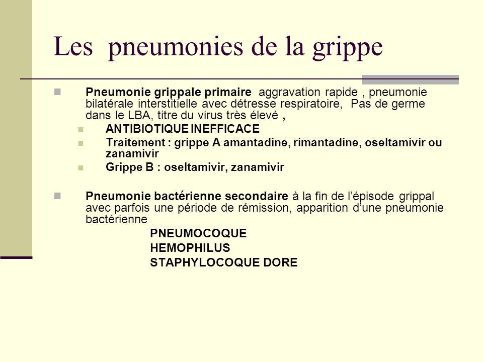 Les pneumonies de la grippe