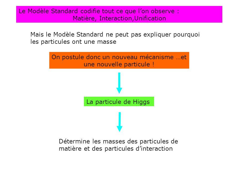 Le Modèle Standard codifie tout ce que l'on observe :