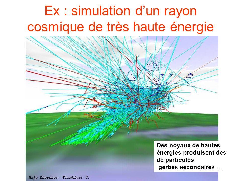 Ex : simulation d'un rayon cosmique de très haute énergie