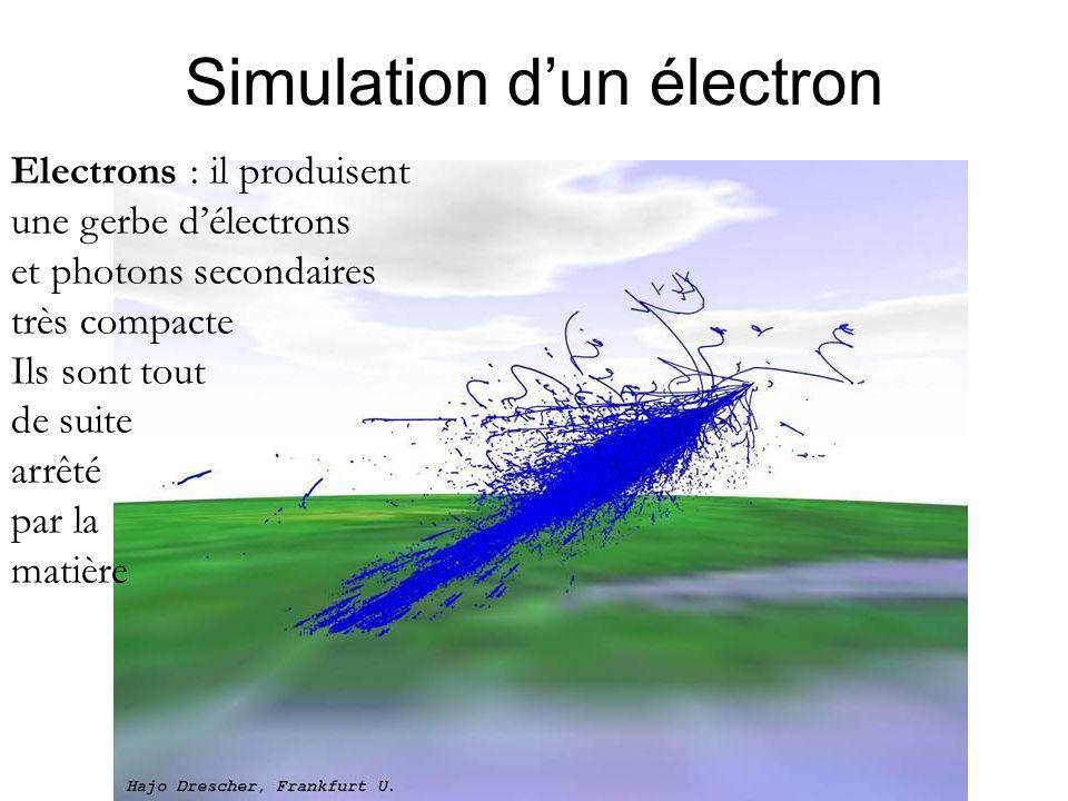 Simulation d'un électron