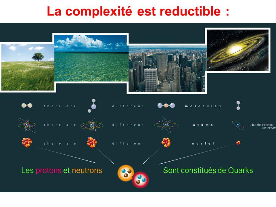 La complexité est reductible :
