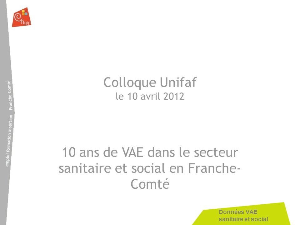 Colloque Unifaf le 10 avril 2012