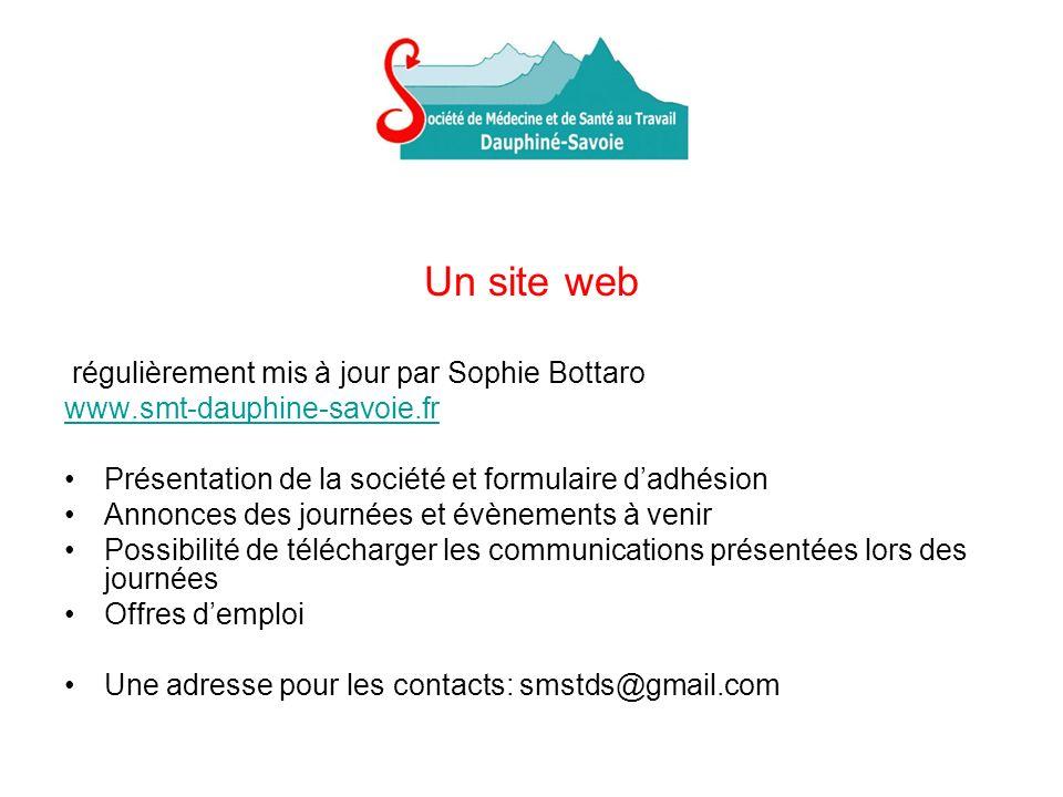 Un site web régulièrement mis à jour par Sophie Bottaro