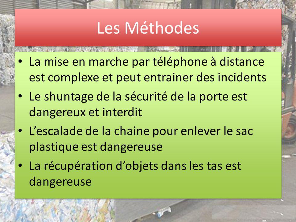 Les Méthodes La mise en marche par téléphone à distance est complexe et peut entrainer des incidents.