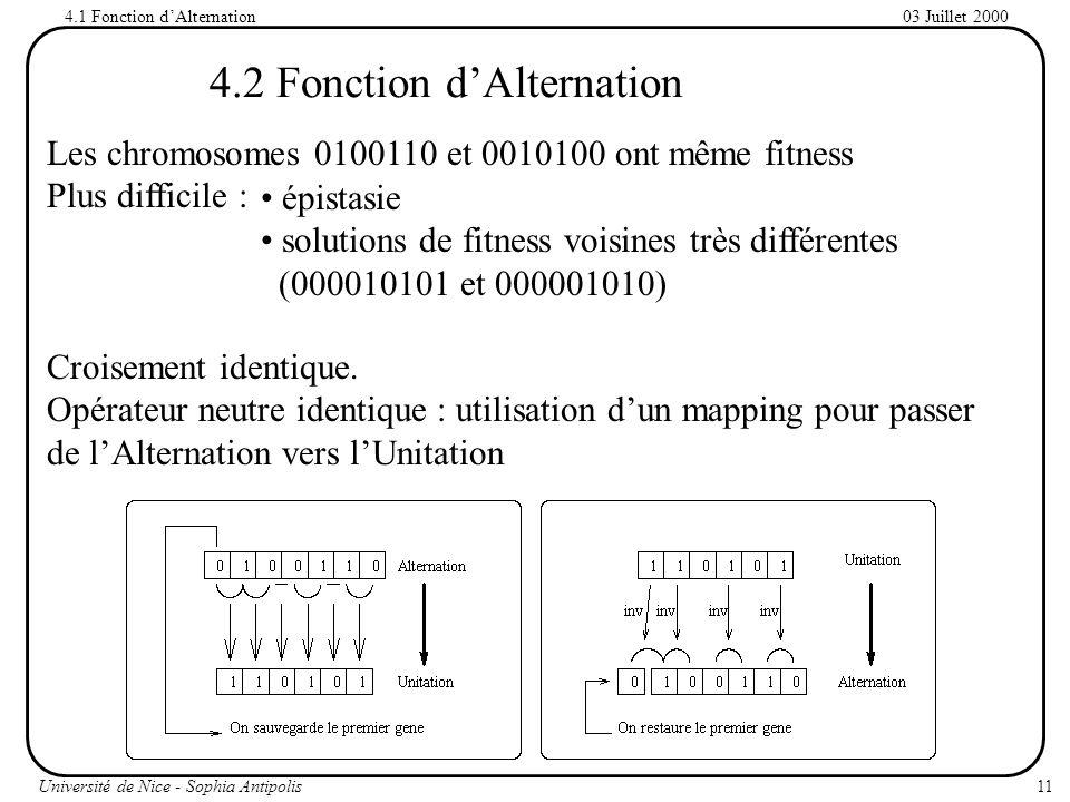 4.2 Fonction d'Alternation