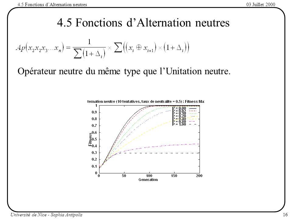 4.5 Fonctions d'Alternation neutres